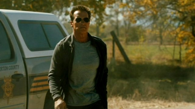Arnold Schwarzenegger in a scene from The Last Stand