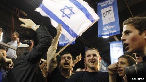 Supporters of Benjamin Netanyahu (22/01/13)