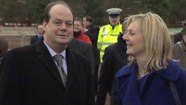 Transport Minister Stephen Hammond with Norfolk MP Elizabeth Truss