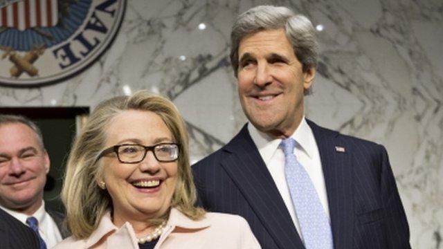 Hillary Clinton and John Kerry