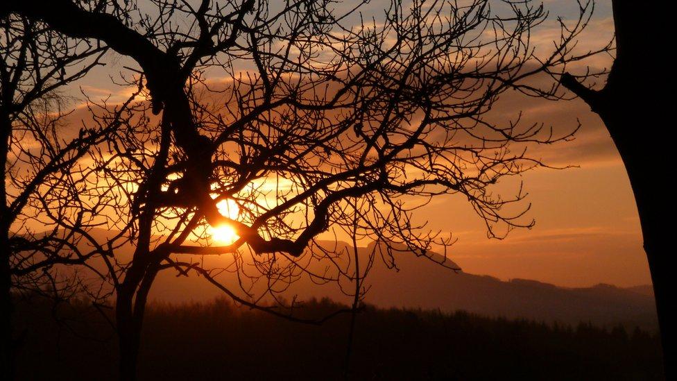 Sunrise over Drymen