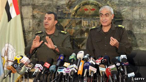 Military rulers in Egypt