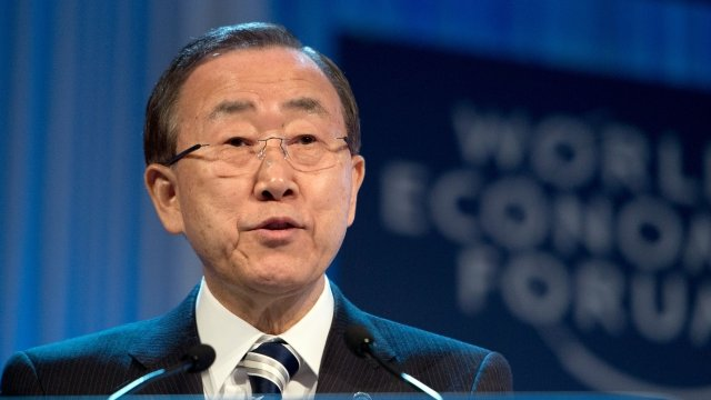 Ban Ki-Moon at the World Economic Forum in Davos