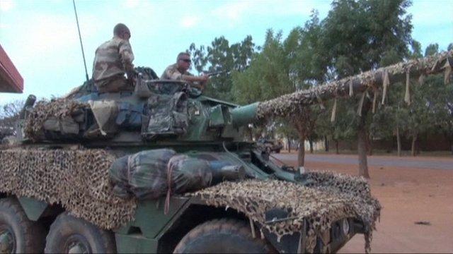 A tank in Mali