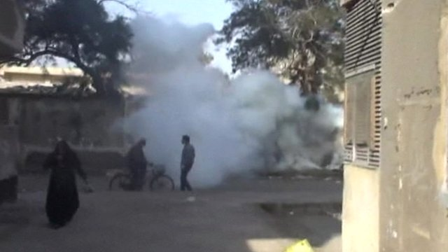 Tear gas in Port Said