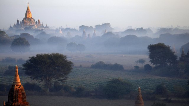Pagodas at Bagan in central Burma