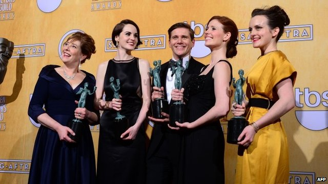 Downton Abbey cast at the 19th annual Screen Actors Guild Awards
