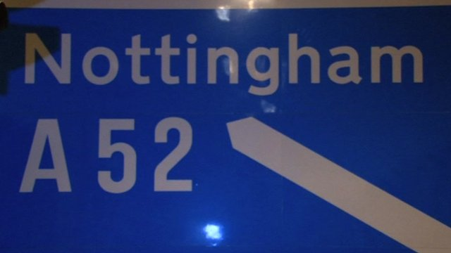A motorway sign