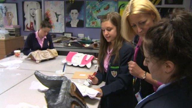 Welsh schoolchildren