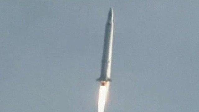Rocket in flight