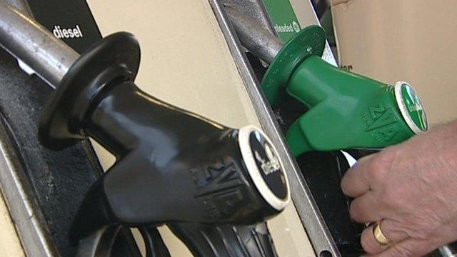 Man using petrol pump