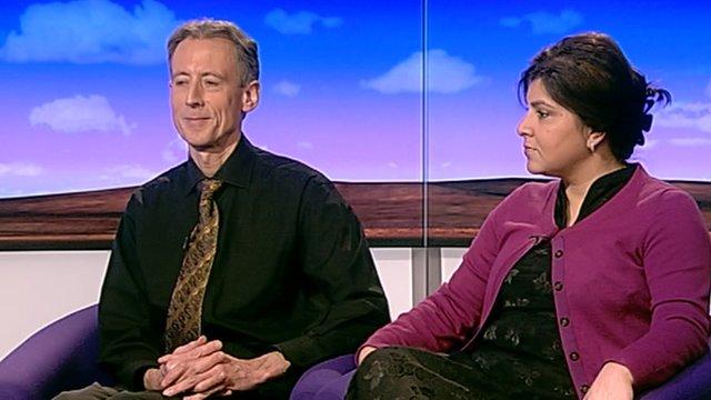 Peter Tatchell and Sayeeda Warsi