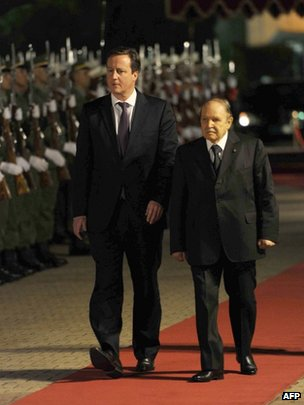 David Cameron with Algerian President Abdelaziz Bouteflika