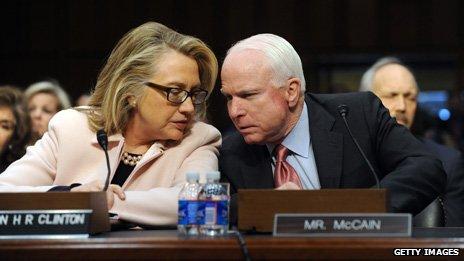 With John McCain in Jan 2013