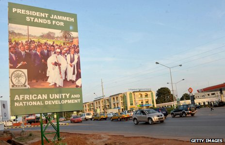 Election poster for Jammeh