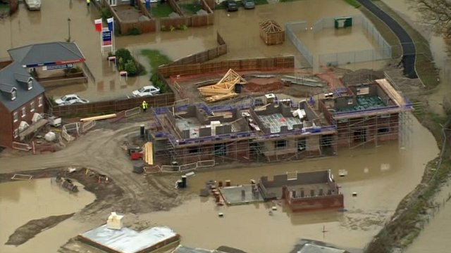 flooded building site