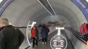 The Large Hadron Collider tunnel replica