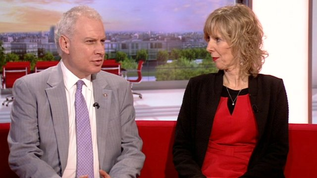 Dr James Kingsland and Debbie Hicks from The Reading Agency