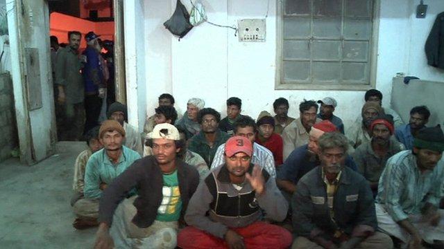 Detained fishermen