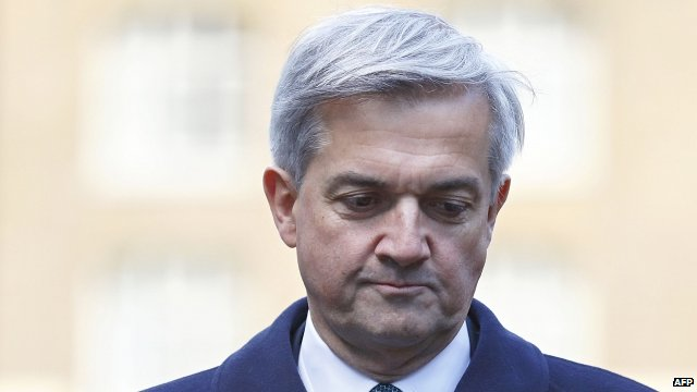 Chris Huhne arriving at Southwark Crown Court