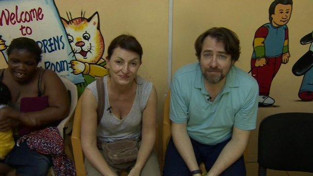 Davina McCall and Jonathan Ross
