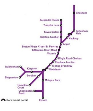 Crossrail 2 map