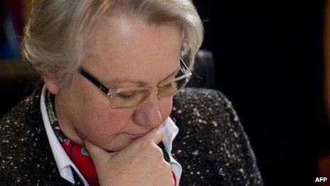 File photo: German Education Minister Annette Schavan