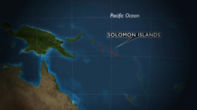 Map showing the Solomon Islands