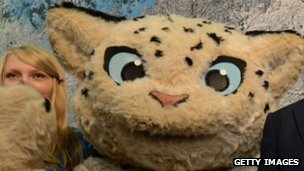The snow leopard is one of three Sochi 2014 mascots