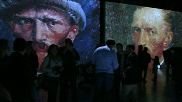 Part of the Van Gogh Alive installation