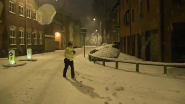 Policeman in the snow