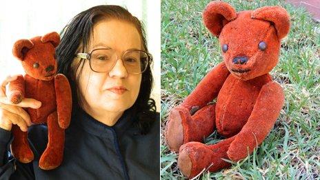 """Ally Hauptmann-Gurski with her """"Teddy"""""""