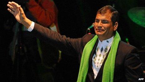 Rafael Correa in January 2012