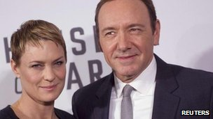 House of Cards stars Kevin Spacey and Robin Wright