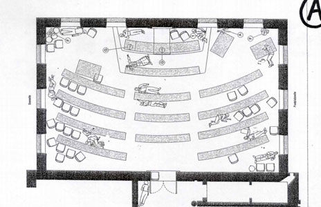 Plan of the Zug council chamber