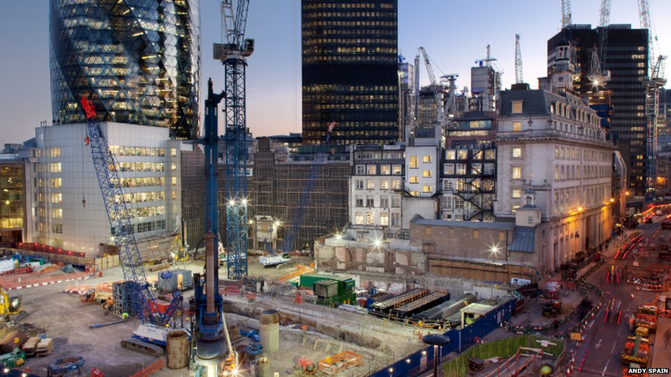 bbc news in pictures building sites reveal unseen london