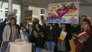 Sit-in at Levenshulme ibrary
