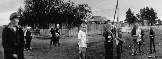 Verkhneimbatsk, Russia, 2003, from White Road by Ivan Sigal