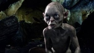 Gollum in a scene from The Hobbit: An Unexpected Journey