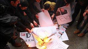 Anti-Aylisli protesters