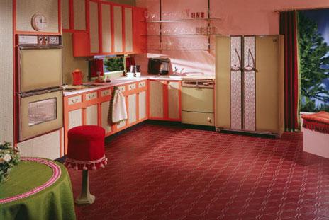 Kitchen in 1970s