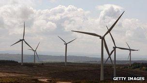 File image of wind farm in Scotland