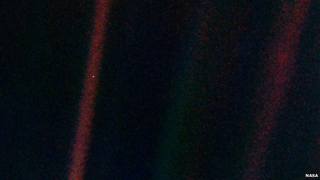 Earth seen from four billion miles away