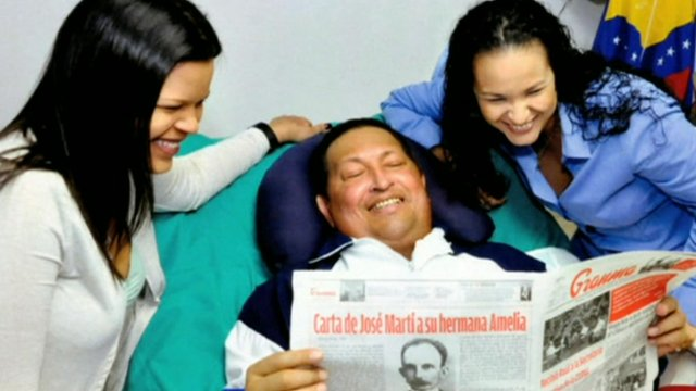 Hugo Chavez and his daughters