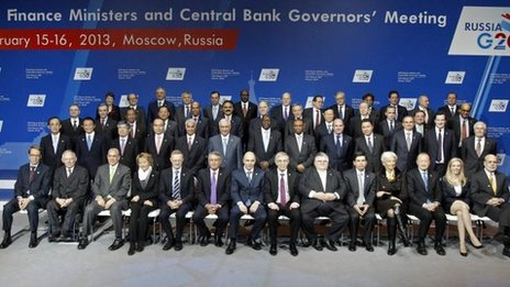 The G20 finance ministers in Moscow, 16 Feb