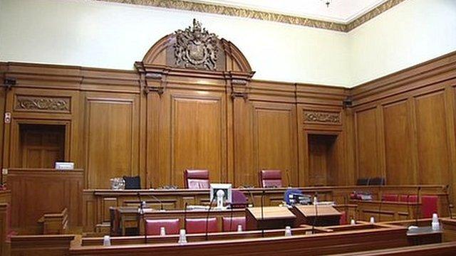 Courtroom interior