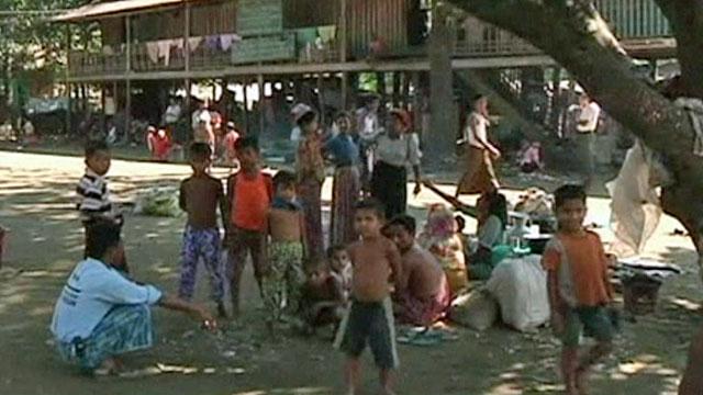 Rohingya Muslim children in Rakhine state, Burma