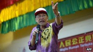 Opposition leader Anwar Ibrahim, 16 Feb