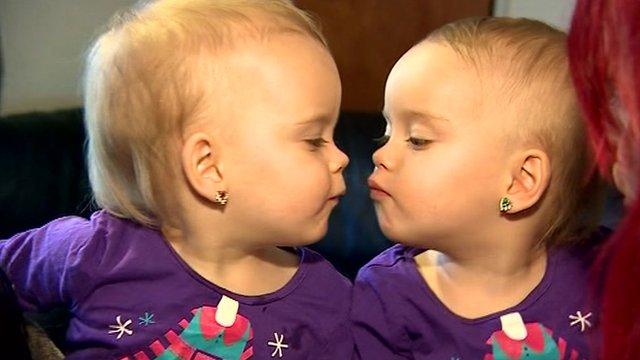 Twins Mia and Madison