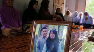 Wedding photo of militant Marohso Jantarawadee in Thailand's south